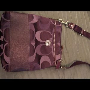 Small coach crossbody-Purple